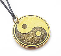 """Амулет """"Інь Ян"""" амулет инь янь на шею , амулет достатку і щастя, бронза"""