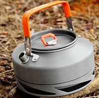 Чайник с теплообменником 0.8л. Походный чайник для отдыха. Отличное качество. Доступная цена. Код: КГ130