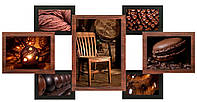 Мультирамка деревянная «Шоколадное мерцание» 7 фото 10х15