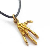 """Амулет Сили """"Лапа Верьт"""" - сила Захисту , В комплекті шкіряний шнурок 45 см, бронза, метал"""