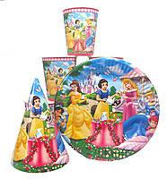 Набор детской дноразовой посуды. Принцессы
