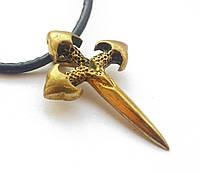 Амулет на шею, Клайом - сила Спрямованості, В комплекті шкіряний шнурок 45 см, бронза, метал