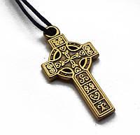 """Амулет """"Кельтський Хрест"""", В комплекті шнурок довжиною 70 см, метал, Кельтский крест"""