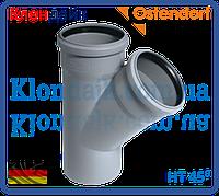 Тройник для внутренней канализации 110/40  45' Ostendorf