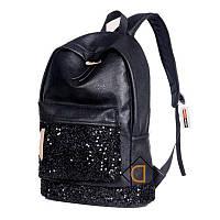 Рюкзак кожаный  с блестками