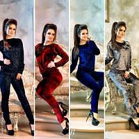 Стильный женский костюм в расцветках / Украина / бархат