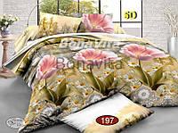 Двуспальный комплект постельного белья Ранфорс 3D
