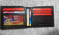 Кошелек кожаный тонкий бумажник коричневый (Турция)