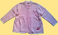Вязанный детский жакет для девочки, розовый