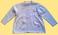 Вязанный детский жакет для девочки, белый