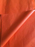 Тишью бумага, 50*70 см, декоративная бумага, цвет морковный