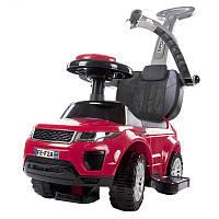 Машинка-каталка с ручкой толкателем SUN BABY Sport Car Rangerover Red