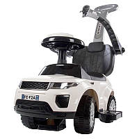 Машинка-каталка с ручкой толкателем SUN BABY Sport Car Rangerover White