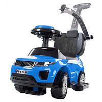 Машинка-каталка с ручкой толкателем SUN BABY Sport Car Rangerover Blue