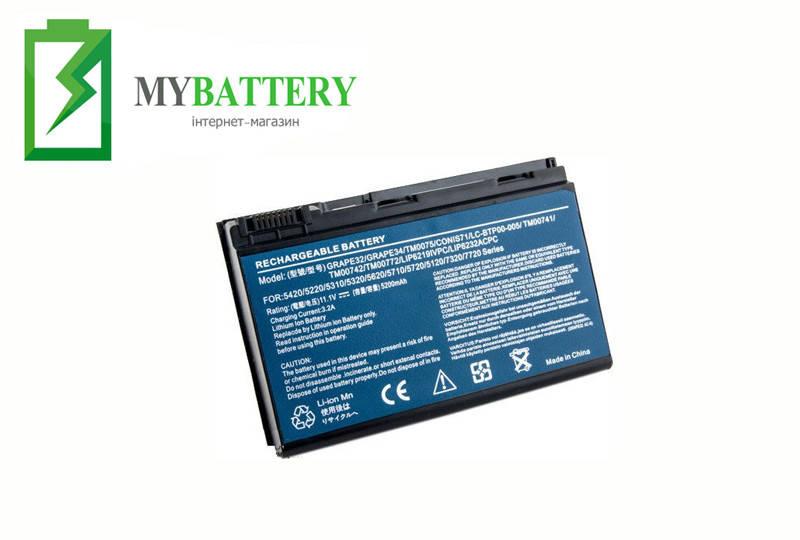 Аккумуляторная батарея Acer LC.BTP00.006 TravelMate 5310 5320 5520 GRAPE32 GRAPE34