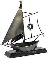 Вітрильник з металу, подарунок у стилі техно-арт