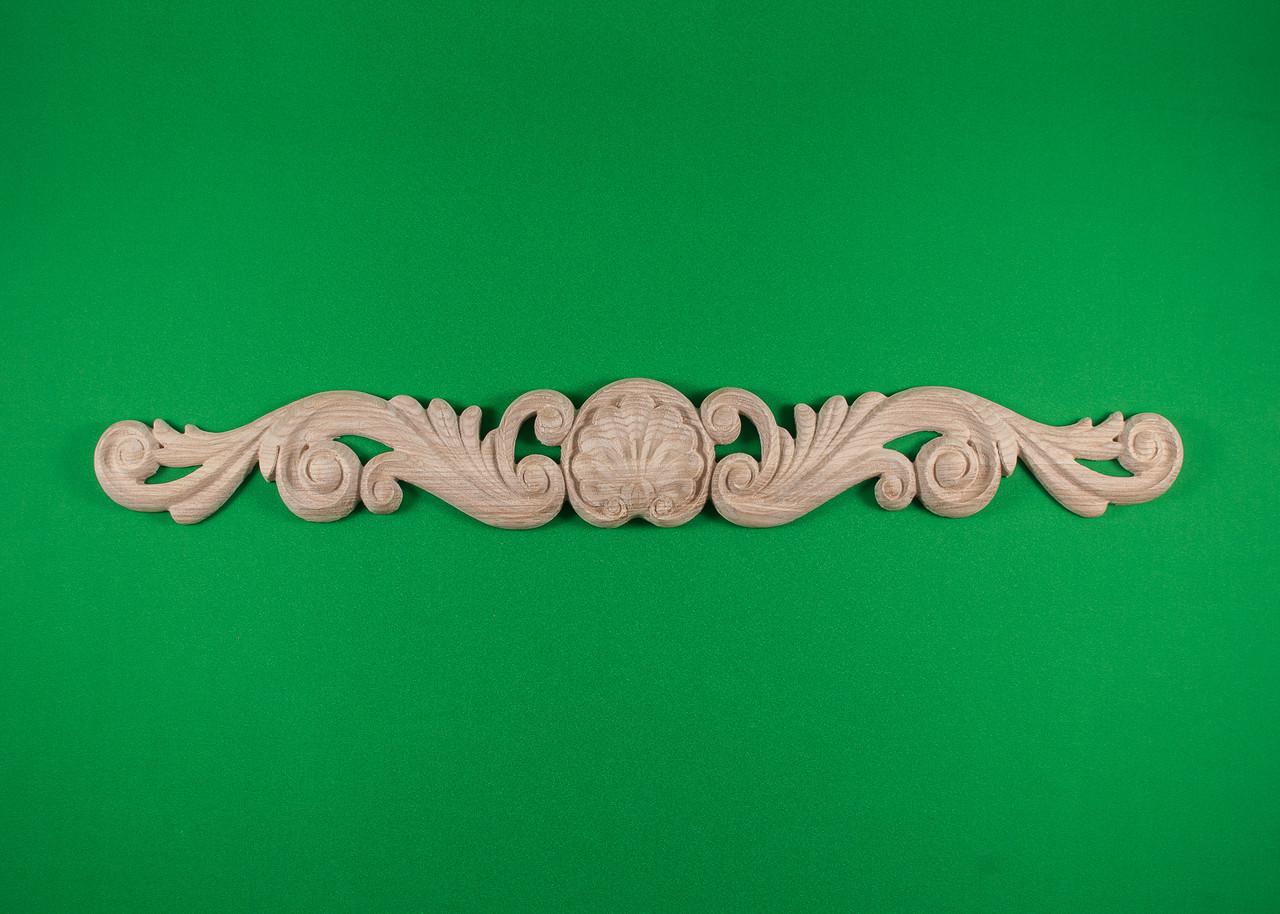 Декор горизонтальный. Деревянный резной декор для мебели. Код ДГ3
