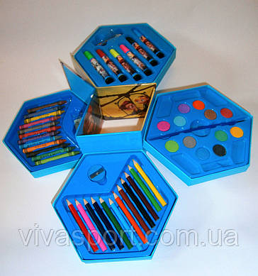 Набор для детского творчества Призма на 46 предметов, набор для рисования 46 предметов