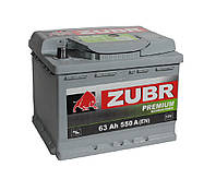 Аккумулятор Zubr Premium (Зубр) 63 Ah 550 А