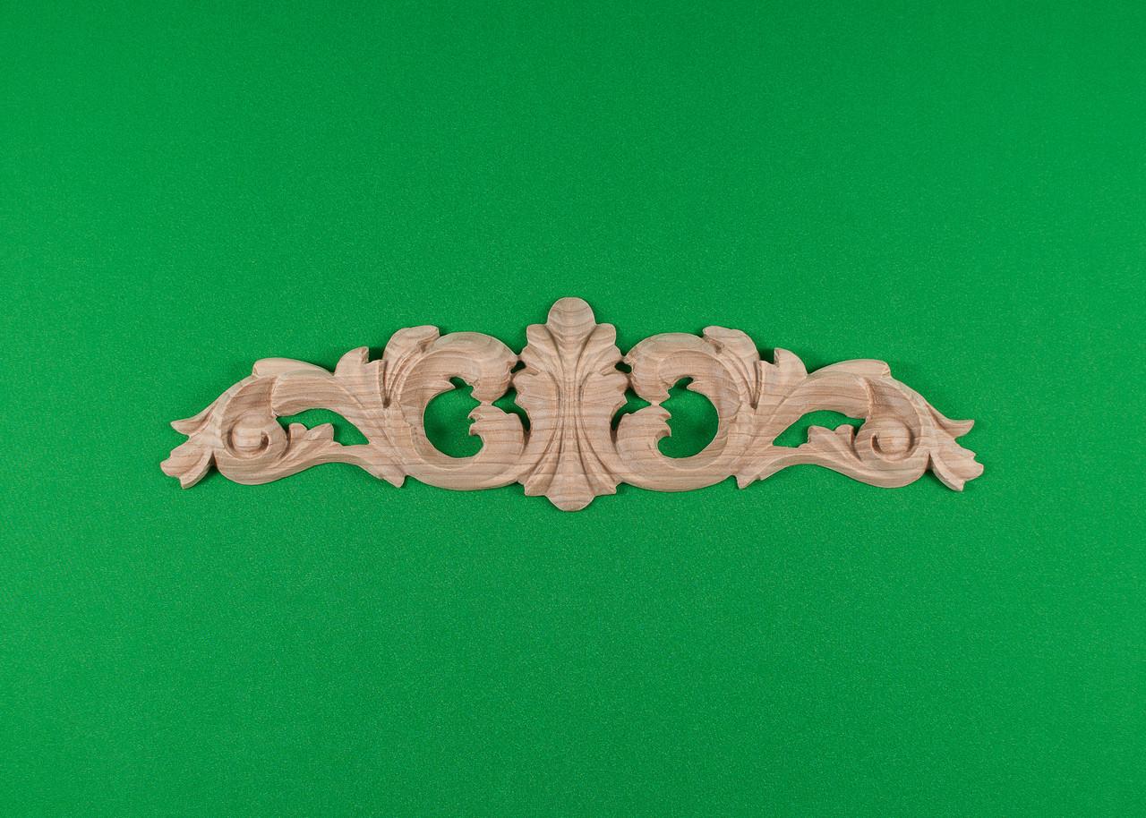 Код ДГ6.Деревянный резной декор для мебели. Декор горизонтальный