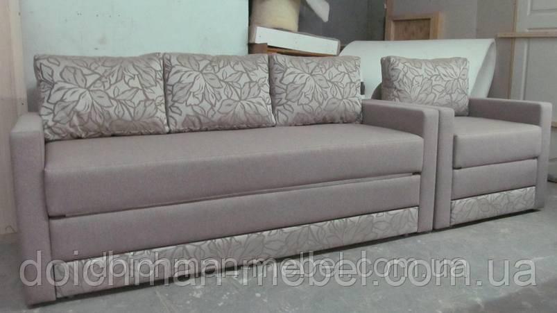 Диван и кресло раскладные купить в Украине, комплект мягкой мебели на заказ