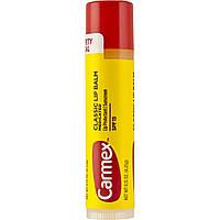 Carmex Lip Balm Stick SPF 15 Classic - Защитный бальзам для губ (Мята), 4.25 г