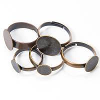 Основа для кольца Латунь, Цвет: Медь, Размер: Диаметр 14~18мм, Размер Основы: 8~14мм, (УТ100005455)