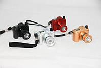 Зажигалка газовая фотоапарат разные цвета + фонарик