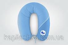Подушка для годування стандарт Горох блакитна