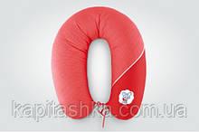 Подушка для годування стандарт Горох червона