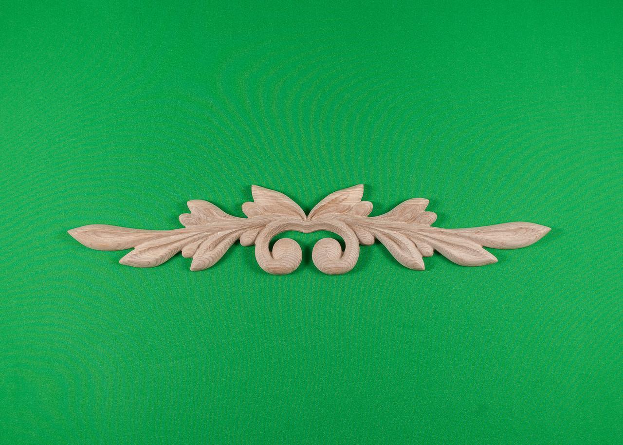 Код ДГ12.Деревянный резной декор для мебели. Декор горизонтальный