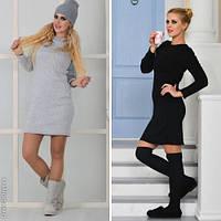 Стильное женское платье-туника норма / Украина / трикотаж