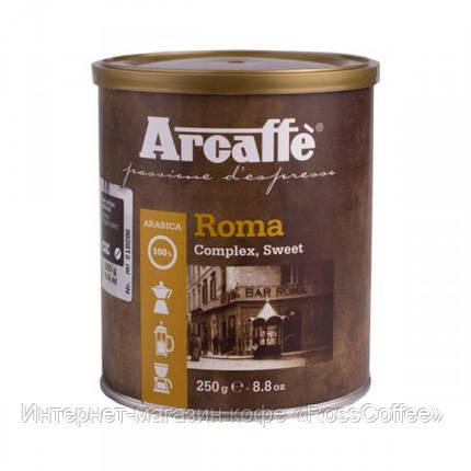 Кофе молотый Arcaffe Roma 250 г в банке, фото 2