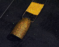 Голографический глиттер, блестки 0,1 мм, золото