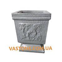 Урна для мусора «№3» Гранит серый