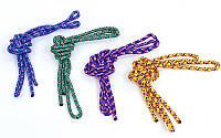 Скакалка для художественной гимнастики l-3м Радуга 04LS-98 (PL, d-3мм, цвета в ассортименте)