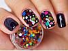 Камифибуки, конфети круглые для декора ногтей, яркий блеск
