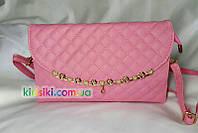 Стильный женский стеганый клатч кожзам сумочка женская