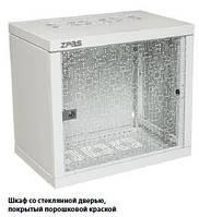 """Шкаф ZPAS 19"""" 12U 600x600 Z-BOX, съемные бок.стенки, стекл.дверь, 100kg max, серый, WZ-7240-20-A3-011"""