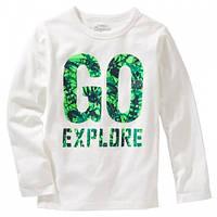 "Белый реглан ""go explore"" OshKosh"