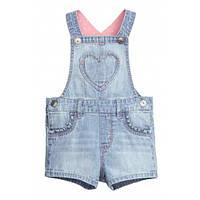 Джинсовый комбинезон-шорты H&M для девочки