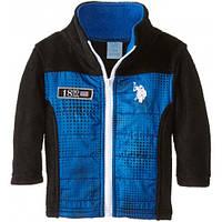 Синяя флисовая кофта для мальчика, US Polo Assn