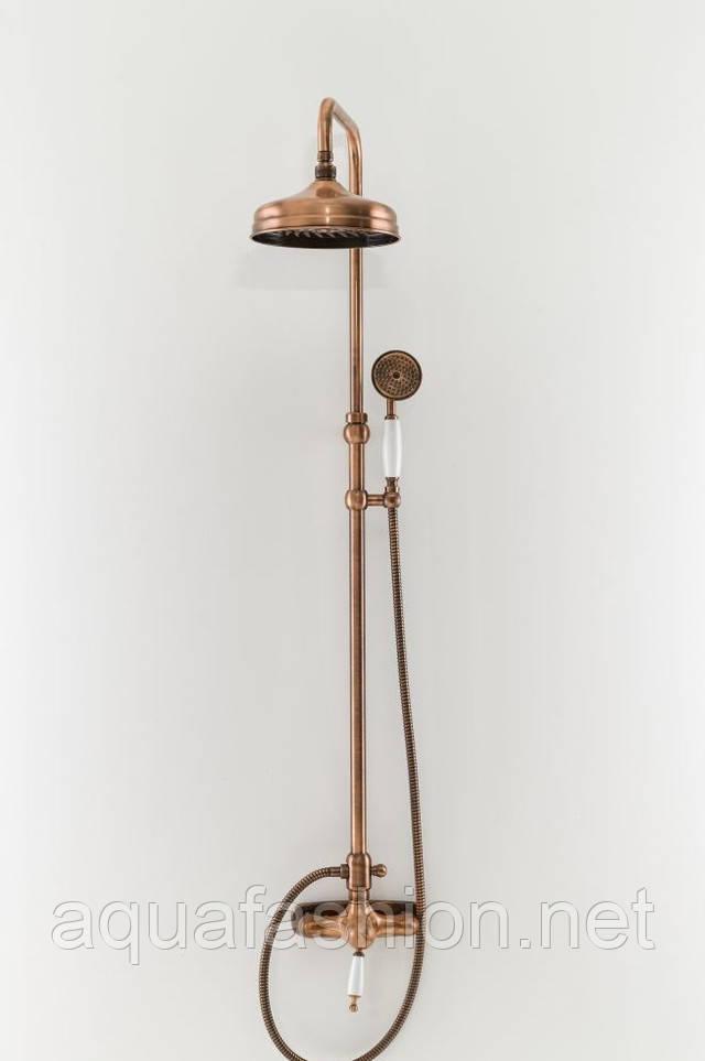 бронзовая душевая система в ретро стиле bugnatese италия