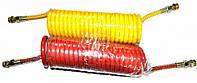 Шланг прицепа воздушный спиральный (красный + желтый)(кабина-полуприцеп)