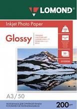 Бумага Lomond 200 г/м, глянец, А3, 50 листов