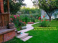 Создание садовой дорожки без использования пластиковых форм трафаретов.