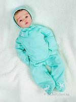 Комплект для новорожденного в роддом байка Lari 1-4-01-2-2 р.56 ментоловый