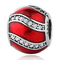 """Шарм бусина №960 """"Красное украшение"""" для браслета Пандора PANDORA (Серебро)"""