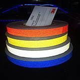 Авто світловідбиваюча стрічка 3M 45.7 m клейка синя декоративна плівка наклейка для тюнінгу скотч, фото 5