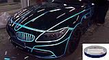 Авто світловідбиваюча стрічка 3M 45.7 m клейка синя декоративна плівка наклейка для тюнінгу скотч, фото 7